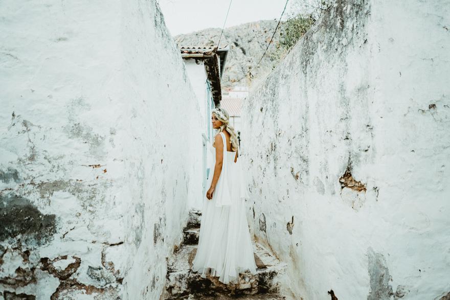 bride portrait in greece